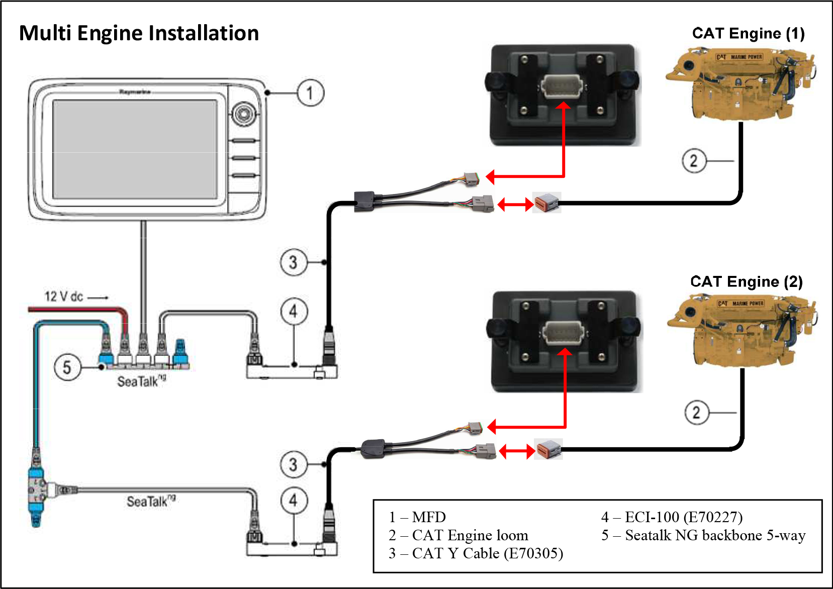 CAT-Install4  Wire Mando Alternator Wiring Diagram on