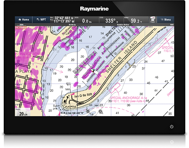 gsSeries Cartography Options | Raymarine Multifunction Displays